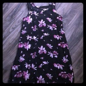 Maurices black & pink casual tank dress